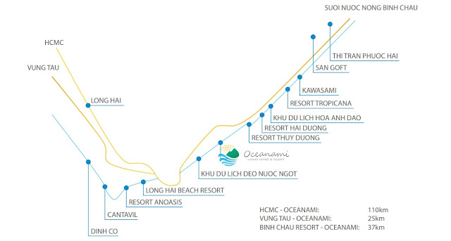 vị trí biệt thự nghỉ dưỡng biển oceanami 4