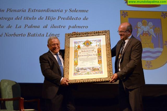El doctor oncólogo Norberto Batista López, Hijo Predilecto de la Isla de La Palma