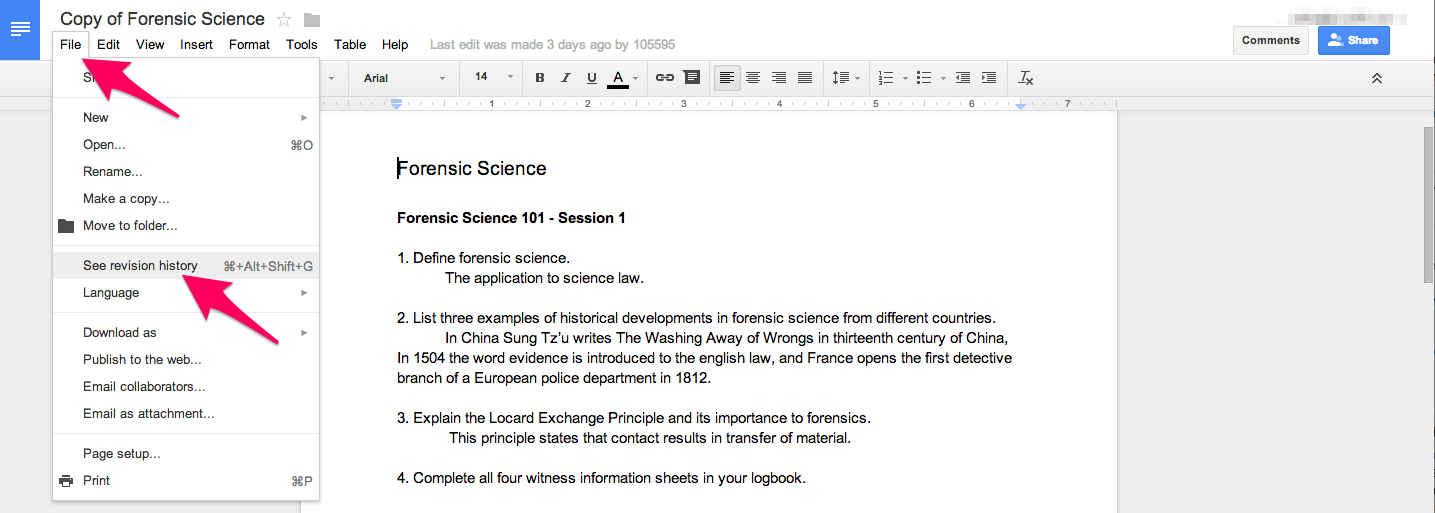 Education Hacker: Revision History in Google Drive