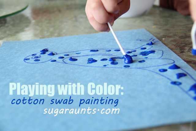 This Was A Fun Painting Craft We Did Recently Ve Been Doing Lot Of Blue Activities Lately