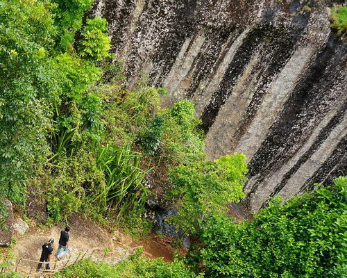 Tinuku Travel Gunung Nglanggeran ancient volcano emerged from ocean floor to form giant stone in Gunung Kidul Geopark
