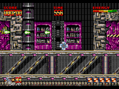 【MD】銀河戰士(Mega.Turrican)原版+無敵狀態版,開放式動作過關遊戲!