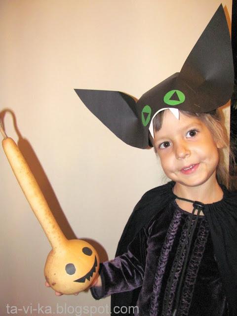 Детский костюм на Хэллоуин  своими руками Летучая мышь