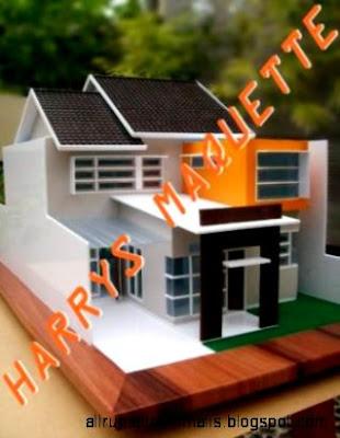 Maket Rumah Sederhana : maket, rumah, sederhana, Miniatur, Rumah, Minimalis, Design