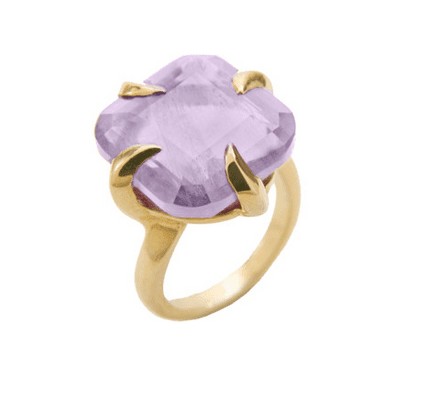 Missoma Claw Thorn Amethyst Cocktail Ring
