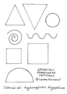 90s geometric embroidery patterns
