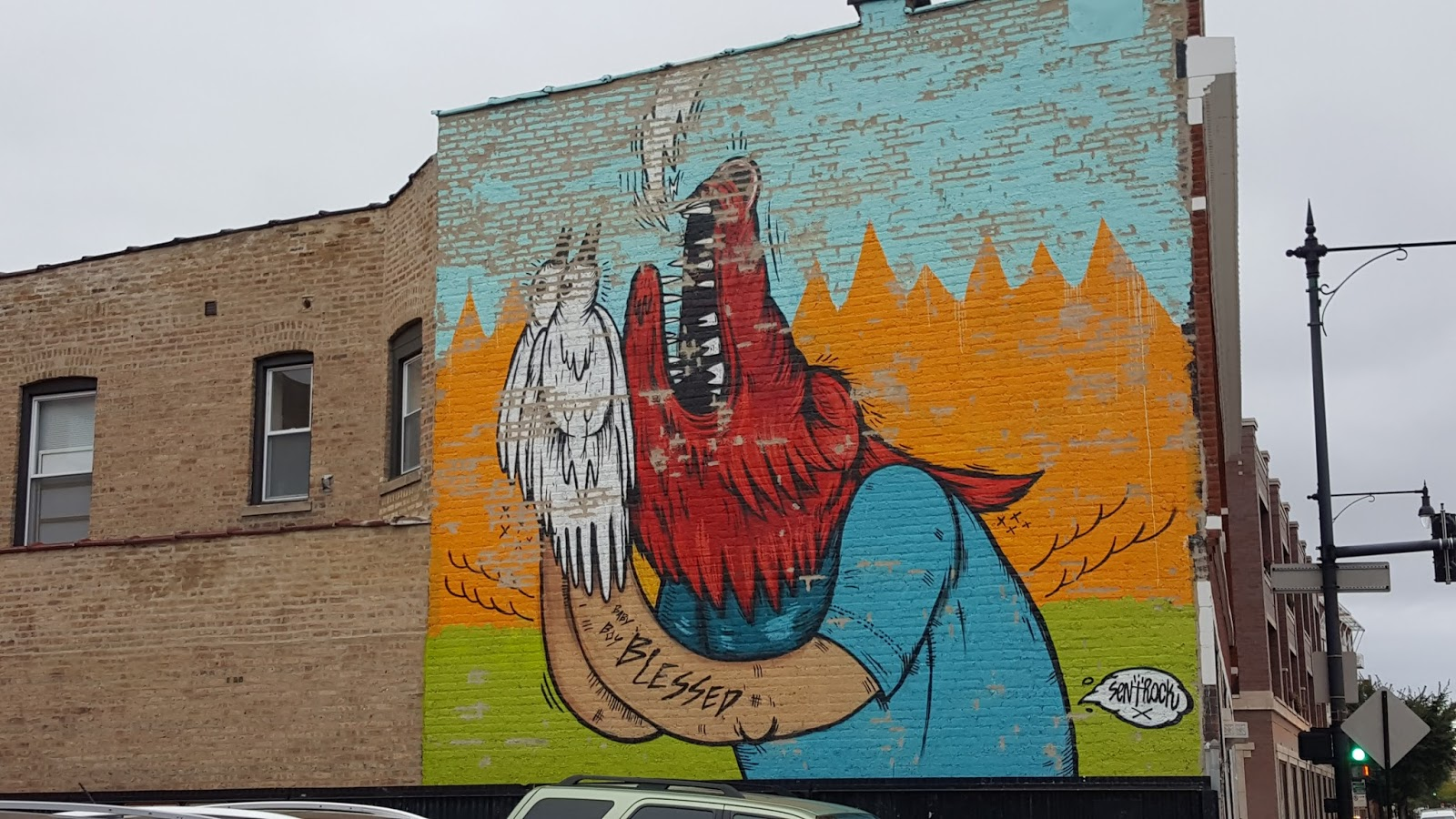 The Chicago Real Estate Local: UPDATE: Mural on North Clark Street near West Lawrence in Uptown