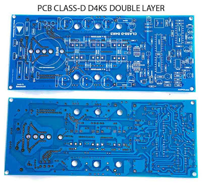 PCB Power D4K5 Power Amplifier Class-D 4500W