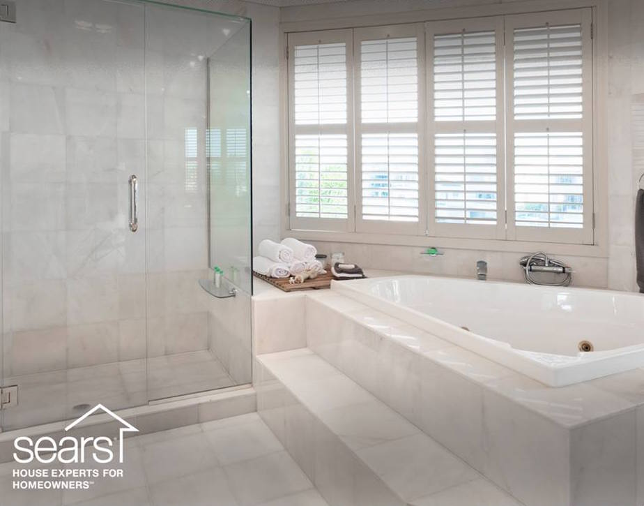 diy, projects, around the house, sears, home renovation, remodel, subway tile, grey and white, neutral