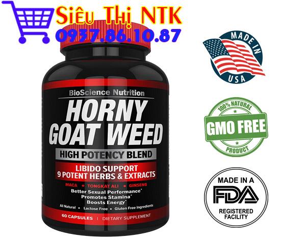 Thuốc tăng cường sinh lý nam Premium Horny Goat Weed 60 viên USA