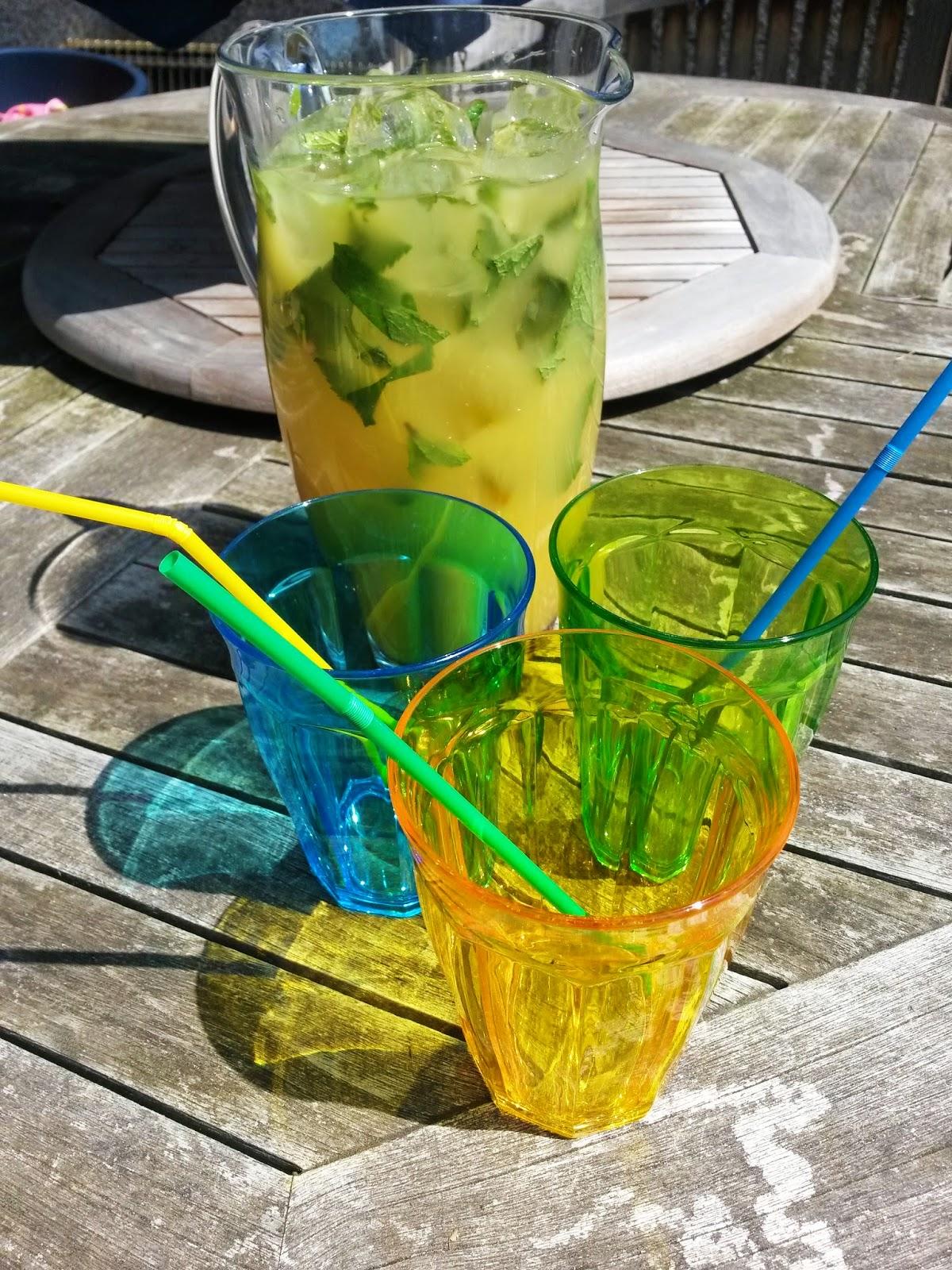 Refreshing summer mocktail juice drink