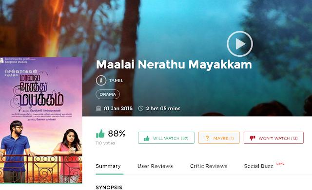 Maalai Nerathu Mayakkam 2016 Tamil Movie Full 700Mb HD