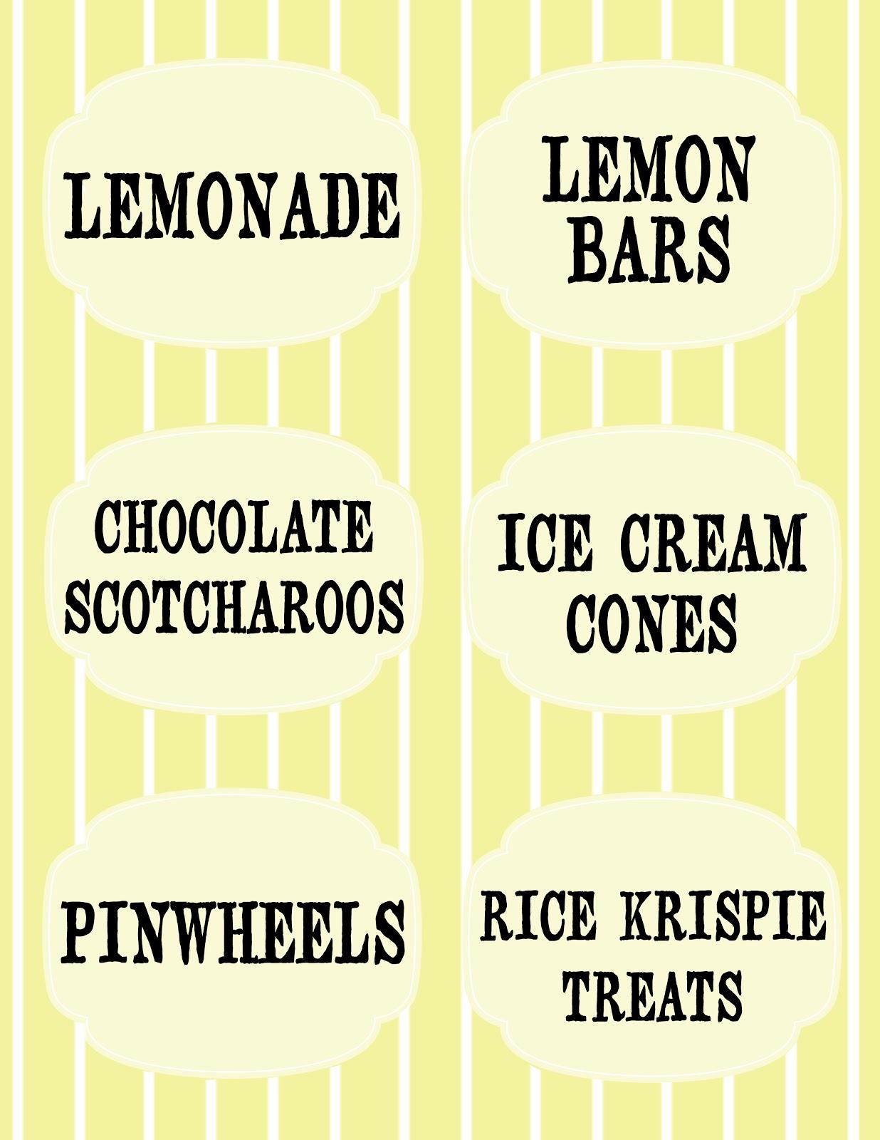 Lemonade Stand Free Printables Aly Amp Ash