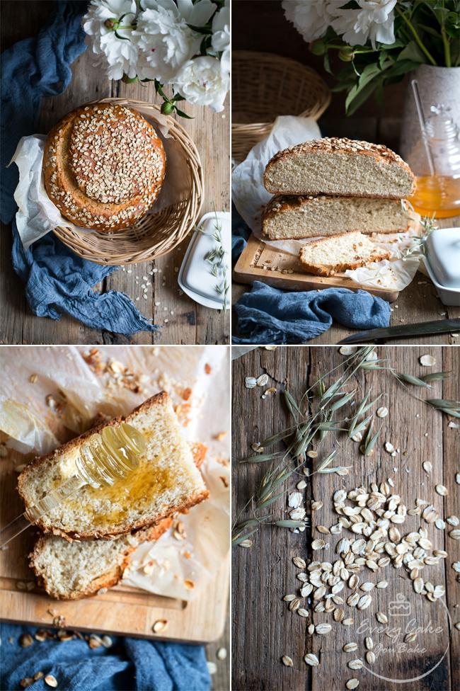 drożdżowy chleb owsiano-miodowy