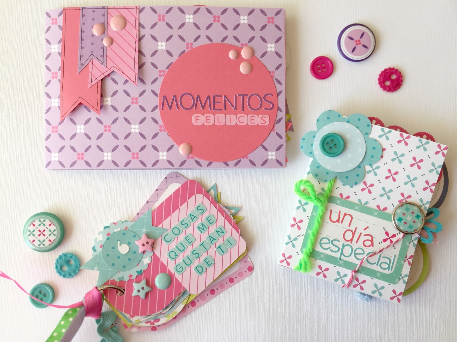 3 IDEAS DE MINI ÁLBUM SCRAPBOOKING SUPER FÁCILES