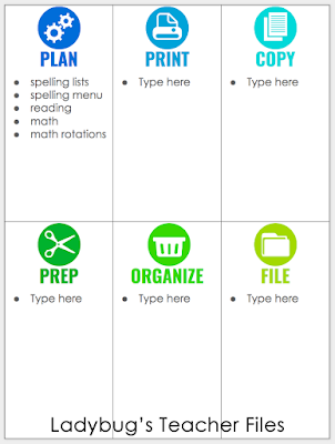 Create a digital to-do list that can be reused each week.