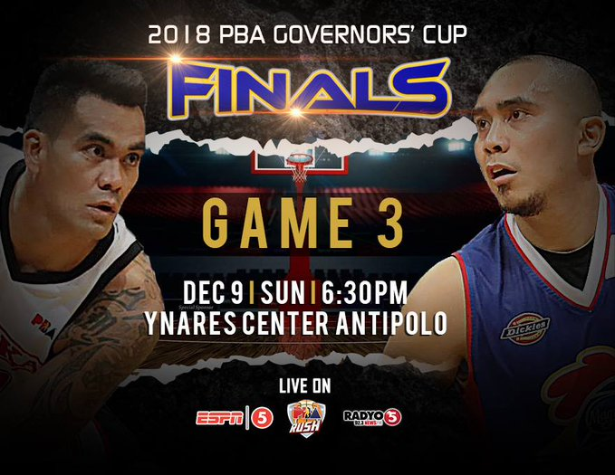 PBA Live Updates, Schedule, Standings, & Results  (PBA Governors' Cup 2018) Finals