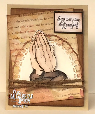 Our Daily Bread Designs Stamp Set: Handle with Prayer, Our Daily Bread Designs Paper Collection:  Blushing Rose, Our Daily Bread Designs Custom Dies: Praying Hands, Layered Lacey Oval