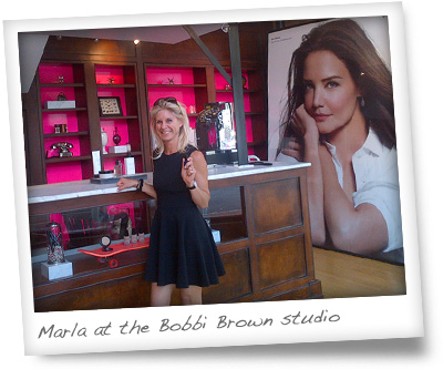 Marla Malcolm Beck at the Bobbi Brown Studios, Montclair, NJ