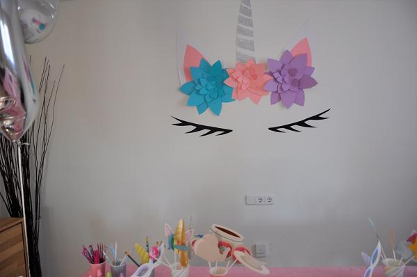 decoración cumpleaños unicornio