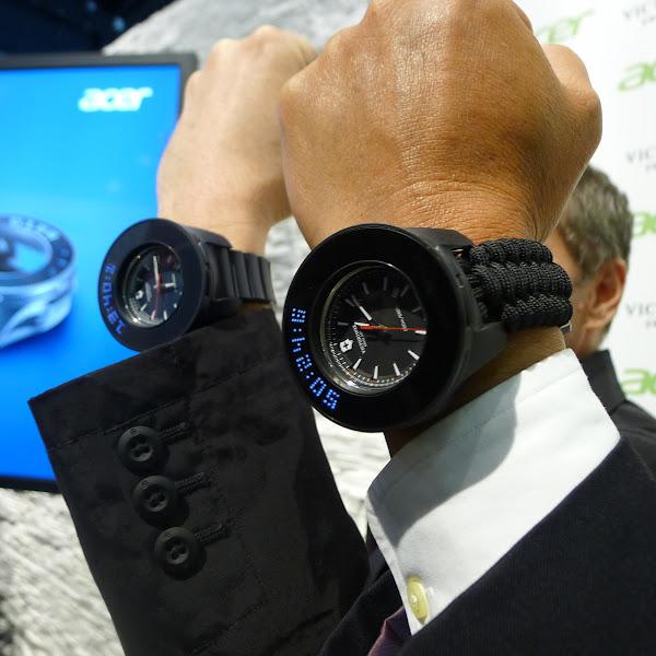 宏碁與Victorinox合作智慧錶框。(圖片來源:詹子嫻攝)