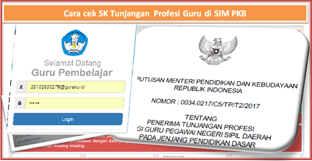 SKTP tunjangan profesi guru untuk smester 1 tahun 2017/2018