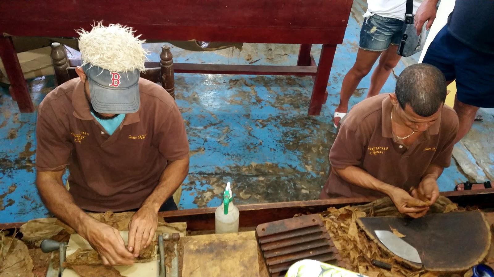 Ręczna produkcja cygar na Dominikanie