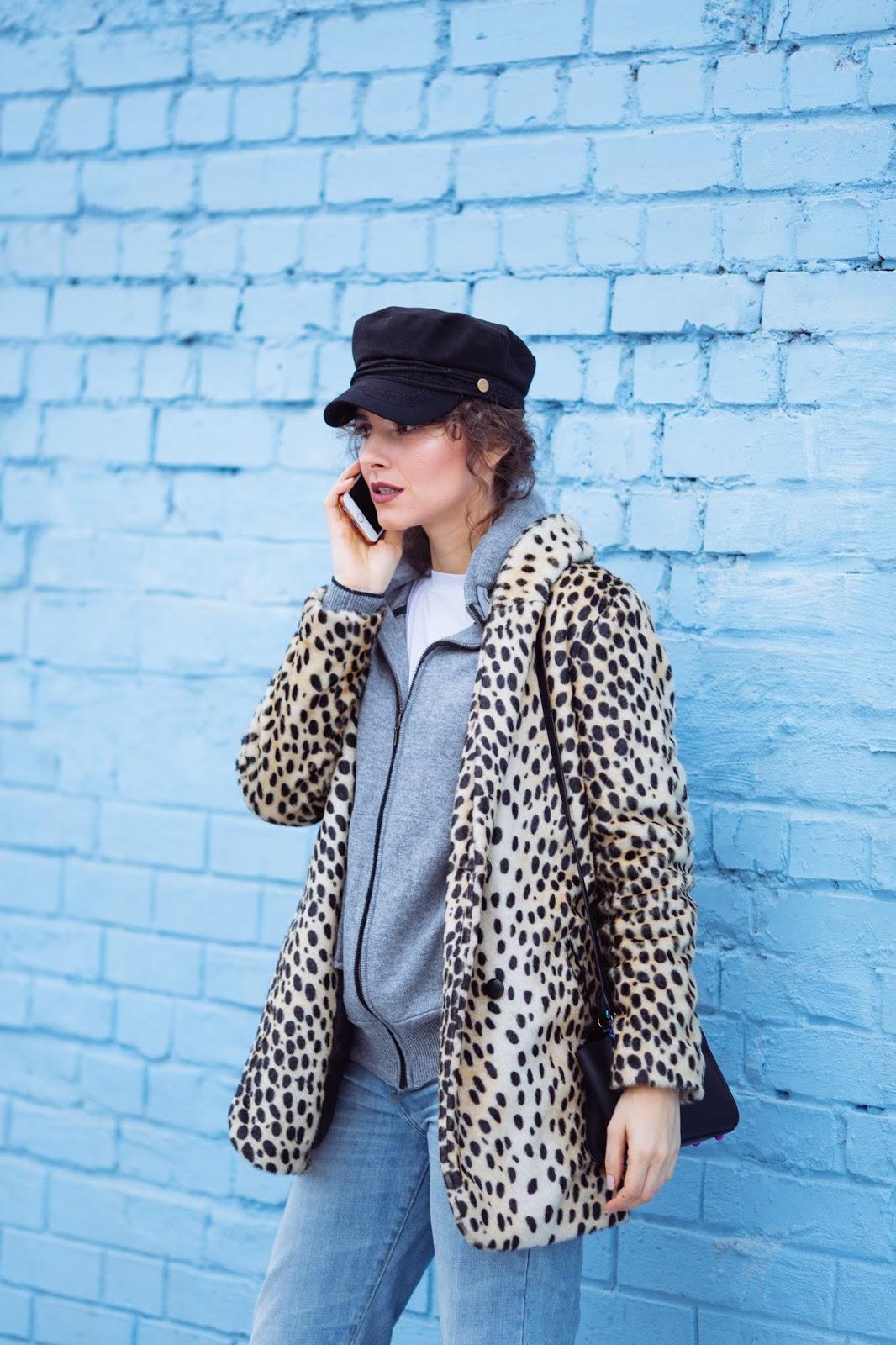 с чем носить леопардовую шубу