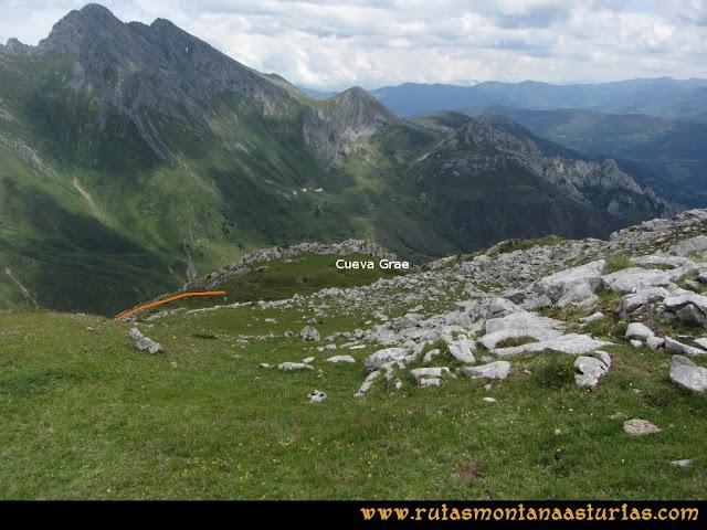 Ruta Peña Cerreos y Ubiña Pequeña: Camino a Cueva Grae