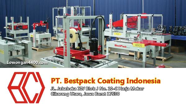 Lowongan Kerja PT. Bestpack Coating Indonesia Jababeka Cikarang