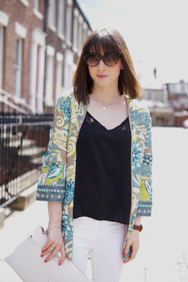Hello Freckles Style Outfit Kimono M&S Whistles Sunglasses