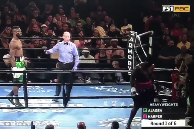 Curtis Harper Walks Out Of Efe Ajagba