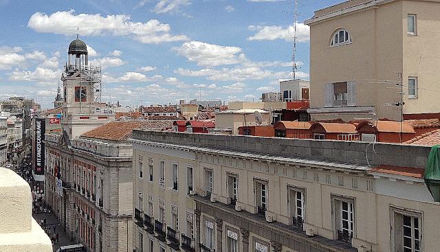 El reloj de la Puerta del Sol.