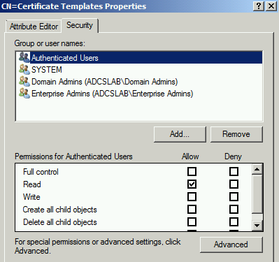 Terry L@u's blog: Duplicating all certificate templates and CA