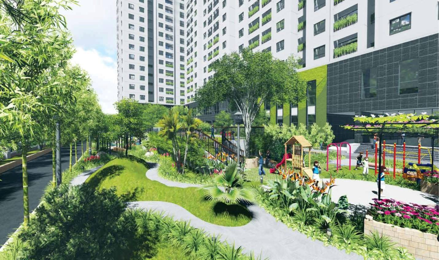 Công viên cây xanh tại chung cư Mipec Hà Đông