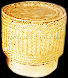 Image of sticky rice bamboo container/holder
