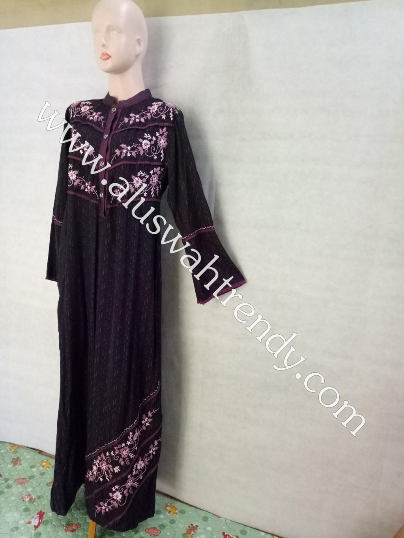 Gamis Muslimah 045 Bordir Bunga