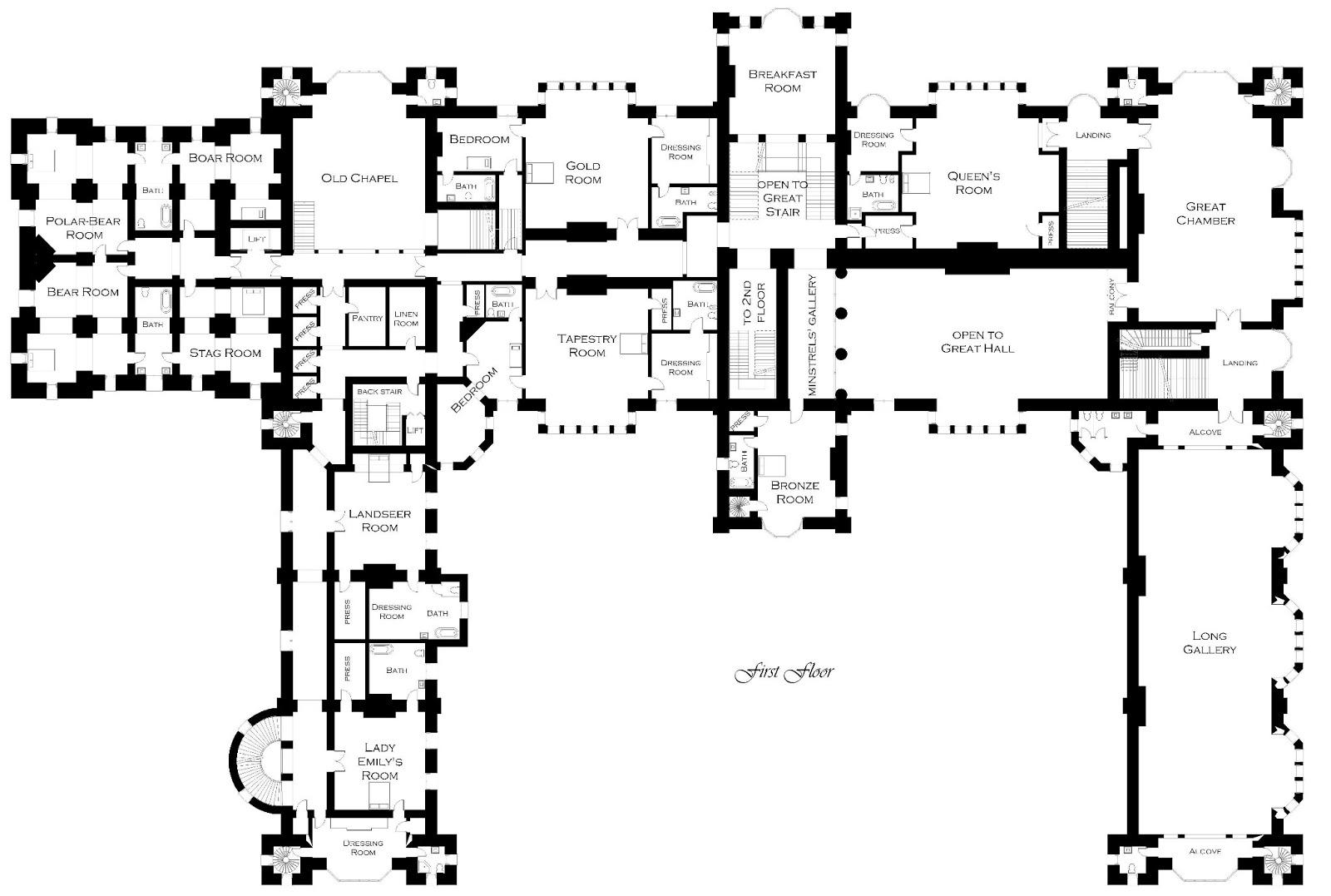 Lord Foxbridge in progress Floor Plans Foxbridge Castle – Hatfield House Floor Plan