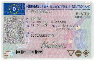 Водительские права в Германии. Führerschein.