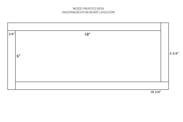 Dimensions for cutting wood for wood painted sign