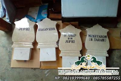 Nisan Marmer Tulungagung | Harga Batu Nisan