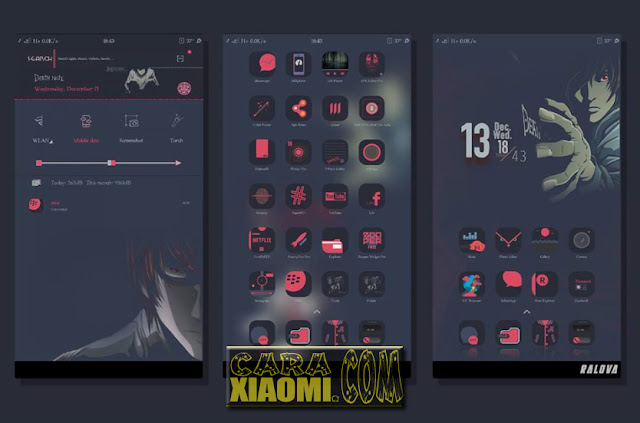 Xiaomi Theme Death Note Material Mtz For MIUI [New Update]