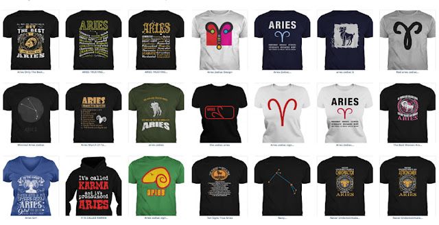 Aries sign T-shirts