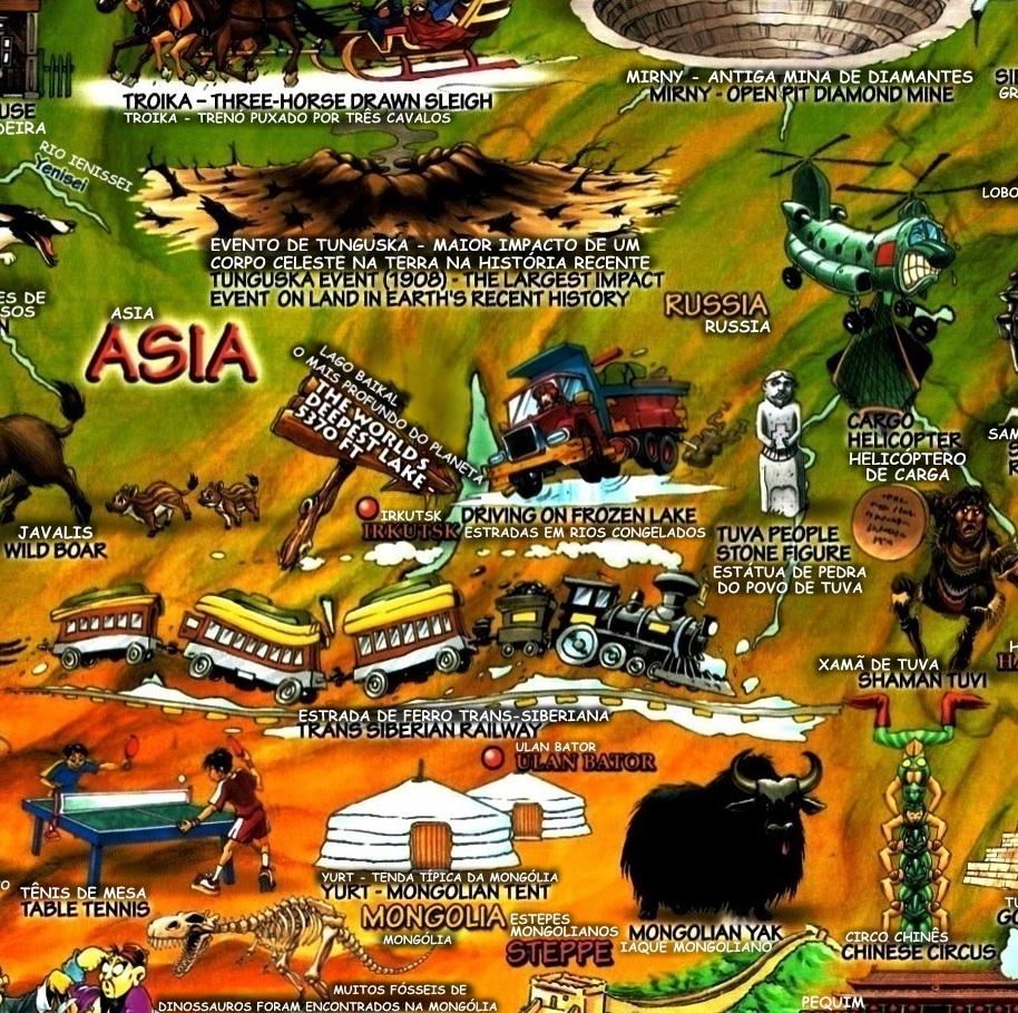 mapa do mundo desenhado