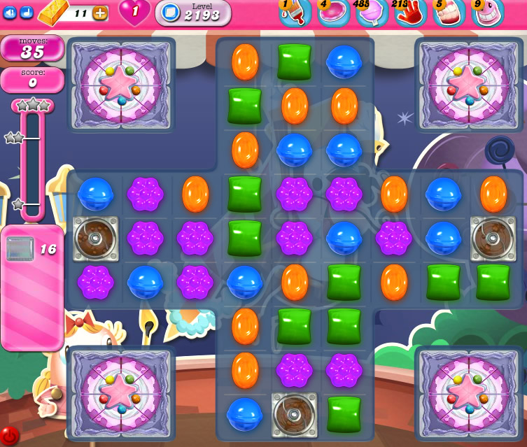 Candy Crush Saga level 2193