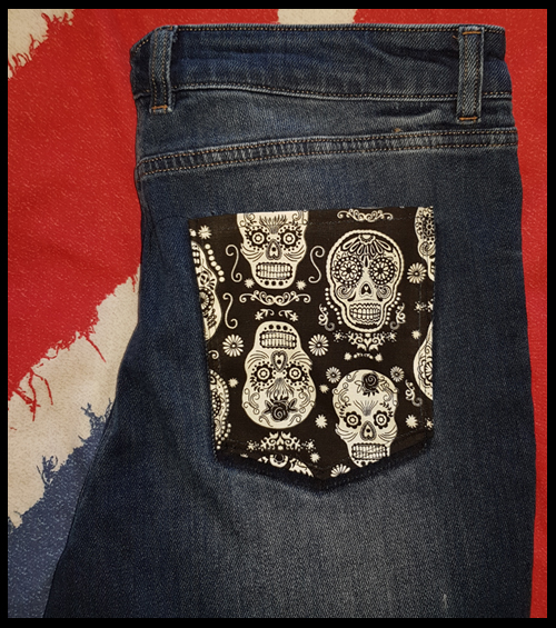 Changing or replacing a pocket on the back of a pair of jeans