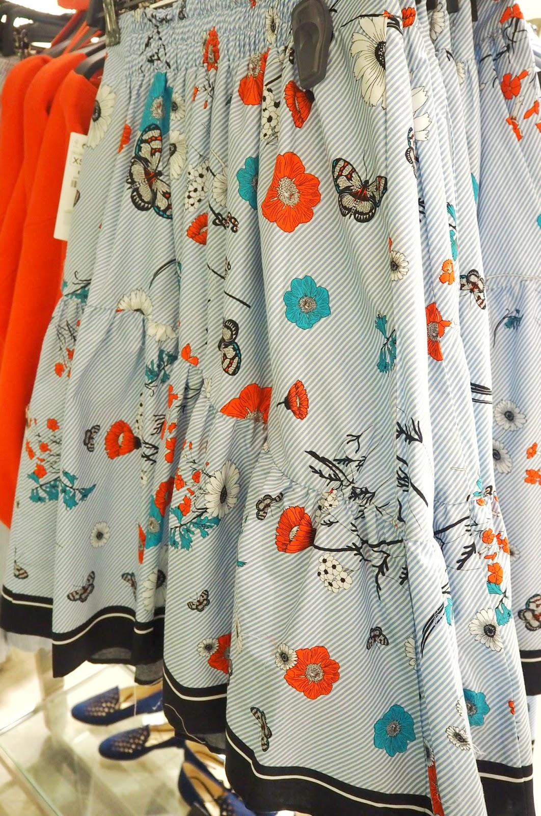 Zara - Stripe and flowers skirt