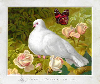 printable easter dove flowers design images downloadable clipart