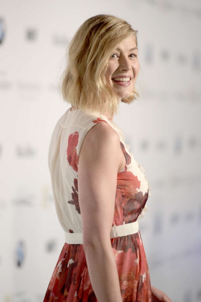 Rosamund Pike is elegant at the 8th Annual Women in Film Pre-Oscar Cocktail Party in LA