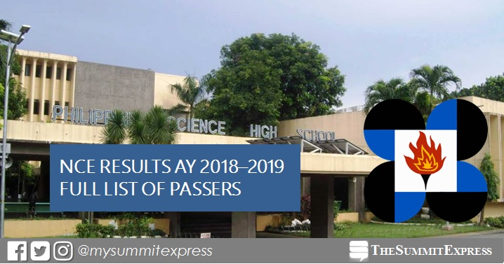 PSHS 2017 NCE results for AY 2018-2019 released